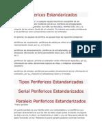 Perifericos Estandarizados y No Estandarizados