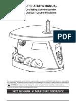 Ryobi OSS500 Oscillating Spindle Sander Owners Manual
