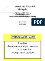 Instiutionalized Racism -Johore Final Version 18th March 2012 1.0