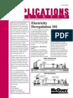 Electricity Deregulation 101
