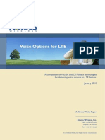 Voice Options for LTE Jan2010