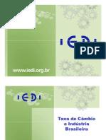 indústria taxa de câmbio e cenário internacional FIESP