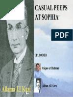 Rare Books Casual Peeps at Sophia by Allama i.i Kazi