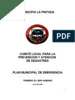Plan Municipal de Emergencias Pintada