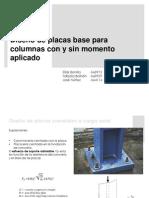 diseño de placas base para columna