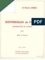 Villa-lobos - Distribution de Fleurs, For Flute & Guitar [Max Eschig] (2)