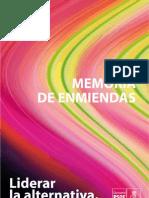 MEMORIA ENMIENDAS PONENCIA MARCO 12º CONGRESO