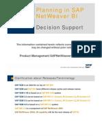 Planning in SAP NetWeaver BI