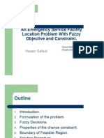 An Emergency Service Facility Location Problem With Fuzzy Objective and Constraint