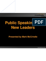 McCrindle Research Public Speaking Skills