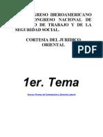CONGRESO NACIONAL DE DERECHO DE TRABAJO Y DE LA SEGURIDAD SOCIAL.