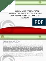 PROGRAMA DE EDUCACI+ôN AMBIENTAL PARA EL COLEGIO DE BACHILLERES DEL ESTADO DE MEXICO.