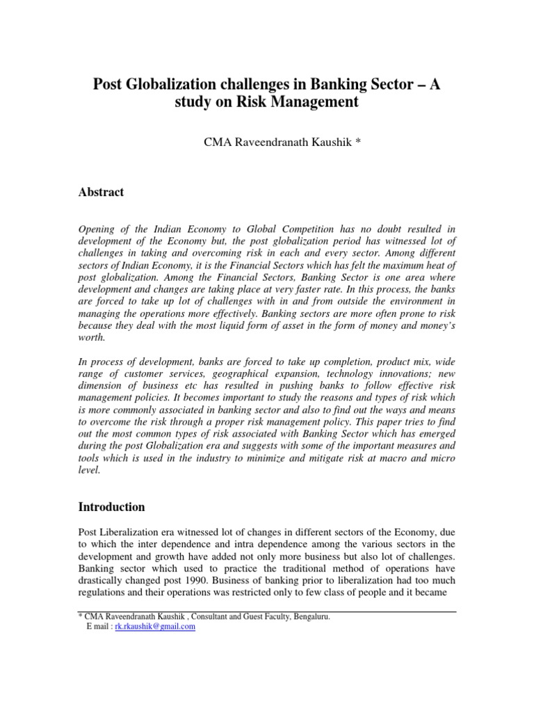 essays in banking and risk management Risk management guidelines can be followed by the writers at paper masters when they write your custom research paper on risk management or financial risk management.
