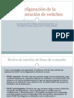 Configuración de la administración de switches