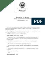 March 19 Senate impeachment court record