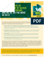 Leaflet about Team Salad Days from the Coalition of Kaiser Permanente Unions during contract negotiations March 2010