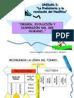origen evolucion y dispersión del ser humano, 7°, 2012