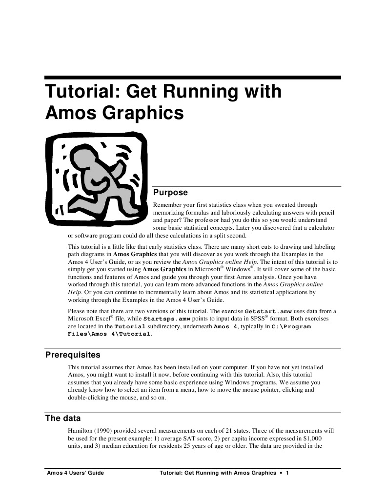 Tutorial - Get Running With AMOS Graphics | Spss | Icon