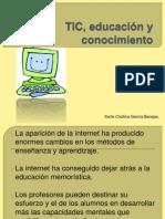 TIC, educación y conocimiento