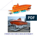 Underwater Vihicle Research Project