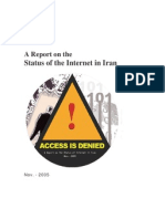 A Report on Internet Access in Iran 2