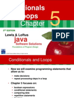 Lewis Chap 5 - Conditionals and Loops