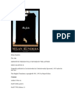 Kundera, Milan - The Joke