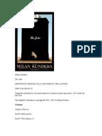 Kundera, Milan - The Joke
