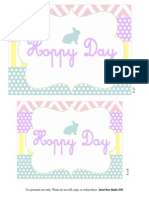 Hoppy Day Printable Set
