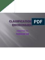 Classification of Economic Environment