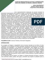 TRANSFERENCIA DE TECNOLOGÍA DE PRODUCCIÓN DE CULTIVOS Y CONSERVACIÓN