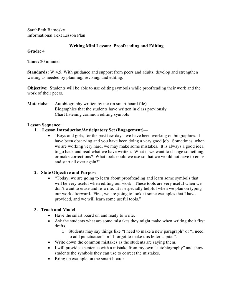 Informational Text Writing Lesson Paragraph Lesson Plan