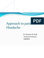 Approach to Patient With Headache