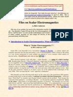 Files on Scalar Electromagnetics