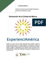 Declaracion de la Ciudad de México IV Congreso FLACMA