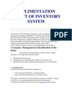 Implimentation Aspect of Inventory 123