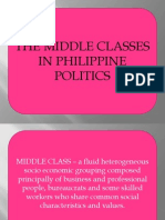 The Middle Classes in Philippine Politics