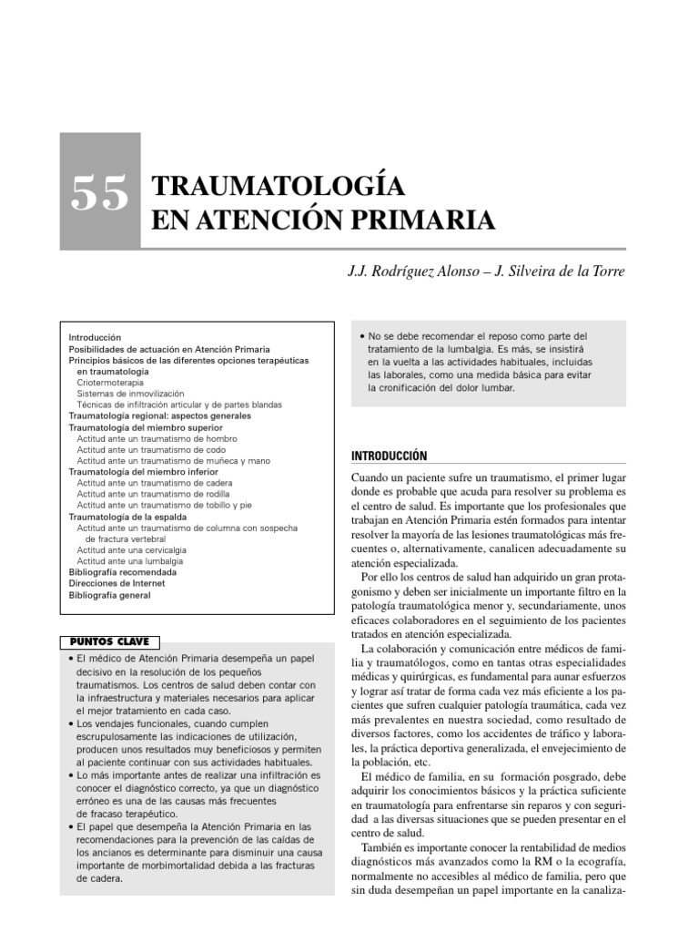 Traumatologia en Atencion Primaria. 96cc835749be