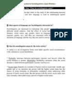 Full Summary an Introduction to Sociolinguistics