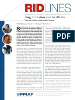 Financing Infrastructure in Africa