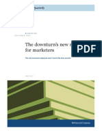 Downturn's New Rules for Marketers