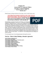 Chapter 04 - BECG 2012 - The Cornerstone of Corporate Ethics - Executive Critical Thinking