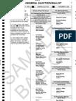 Sample ballot, Franklin County, 2008