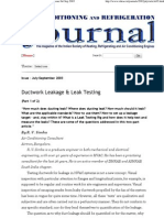 Ductwork Leakage & Leak Testing (Part 1 of 2) - Issue Jul-Sep 2003