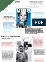 Analysis of Vibe Magazine