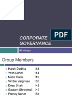 Corporate Governance Infosys