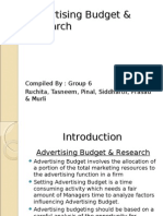 Advertising Budget & Research