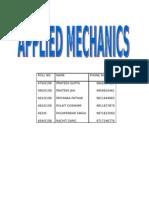 Applied Mechanics Group 5