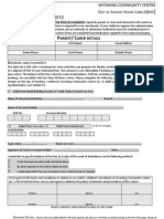 Booking Form Vacation Care April 2012