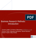 Introduction Into Research Methods